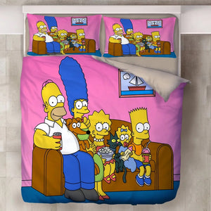 Anime The Simpsons Homer J. Simpson #2 Duvet Cover Quilt Cover Pillowcase Bedding Set Bed Linen Home Decor