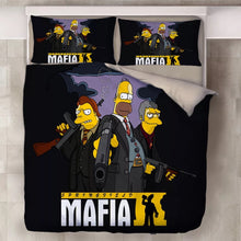 Load image into Gallery viewer, Anime The Simpsons Homer J. Simpson #4 Duvet Cover Quilt Cover Pillowcase Bedding Set Bed Linen Home Decor