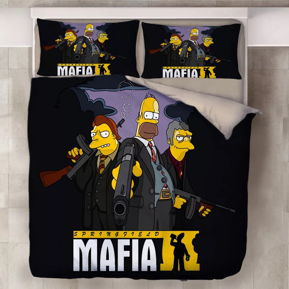 Anime The Simpsons Homer J. Simpson #4 Duvet Cover Quilt Cover Pillowcase Bedding Set Bed Linen Home Decor
