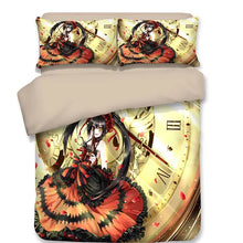 Load image into Gallery viewer, Date A Live Tokisaki Kurumi Nightmare #3 Duvet Cover Quilt Cover Pillowcase Bedding Set Bed Linen Home Decor