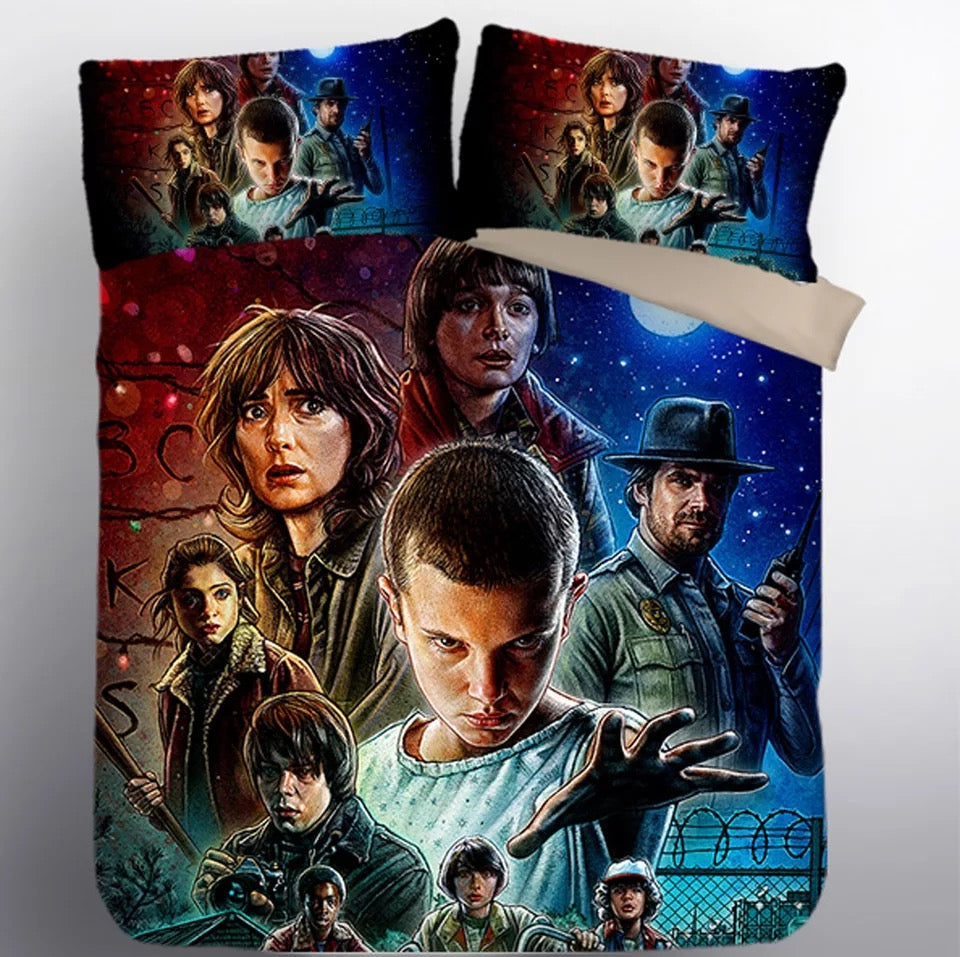 Stranger Things Eleven #17 Duvet Cover Quilt Cover Pillowcase Bedding Set Bed Linen Home Decor
