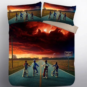 Stranger Things Eleven #23 Duvet Cover Quilt Cover Pillowcase Bedding Set Bed Linen Home Decor