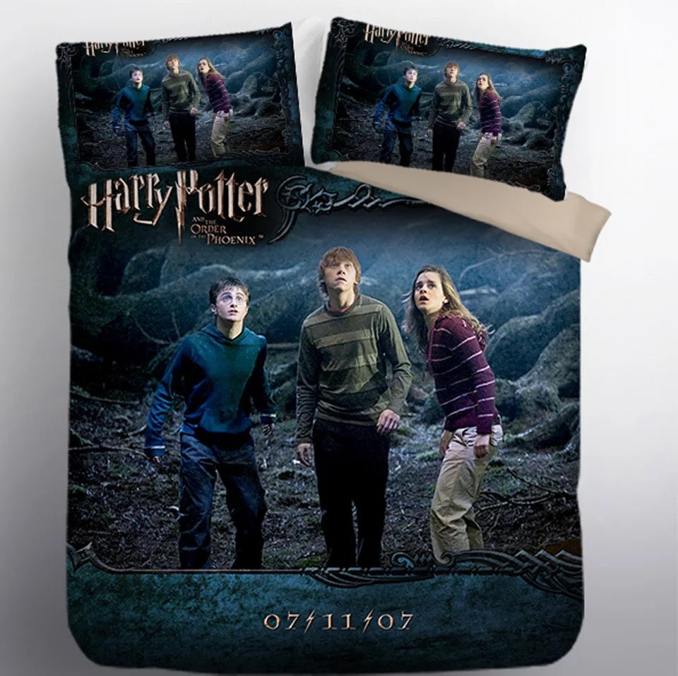 Harry Potter Hogwarts #4 Duvet Cover Quilt Cover Pillowcase Bedding Set Bed Linen Home Decor