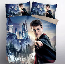 Load image into Gallery viewer, Harry Potter Hogwarts #10 Duvet Cover Quilt Cover Pillowcase Bedding Set Bed Linen Home Decor