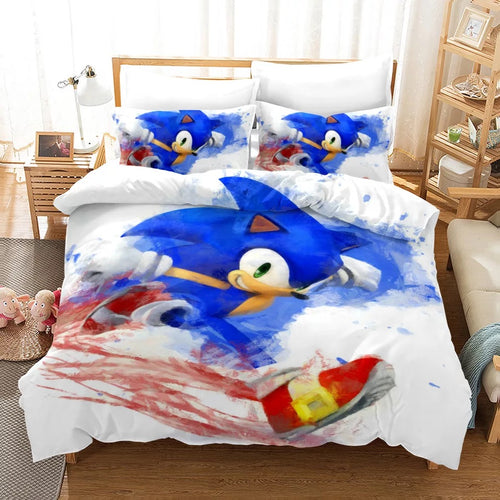 Sonic Lost World #2 Duvet Cover Quilt Cover Pillowcase Bedding Set Bed Linen Home Decor