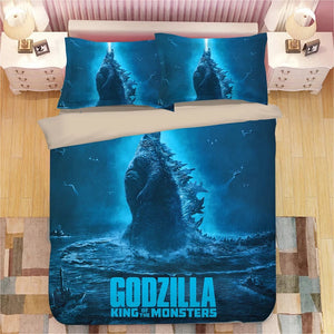Godzilla #3 Duvet Cover Quilt Cover Pillowcase Bedding Set Bed Linen Home Decor