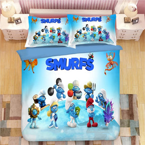 The Smurfs Smurfette #2 Duvet Cover Quilt Cover Pillowcase Bedding Set Bed Linen Home Decor