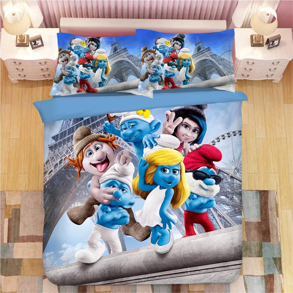 The Smurfs Smurfette #5 Duvet Cover Quilt Cover Pillowcase Bedding Set Bed Linen Home Decor