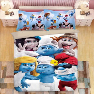 The Smurfs Smurfette #7 Duvet Cover Quilt Cover Pillowcase Bedding Set Bed Linen Home Decor