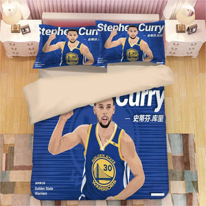 Basketball Golden State Warriors Stephen Curry Basketball #13 Duvet Cover Quilt Cover Pillowcase Bedding Set Bed Linen Home Decor