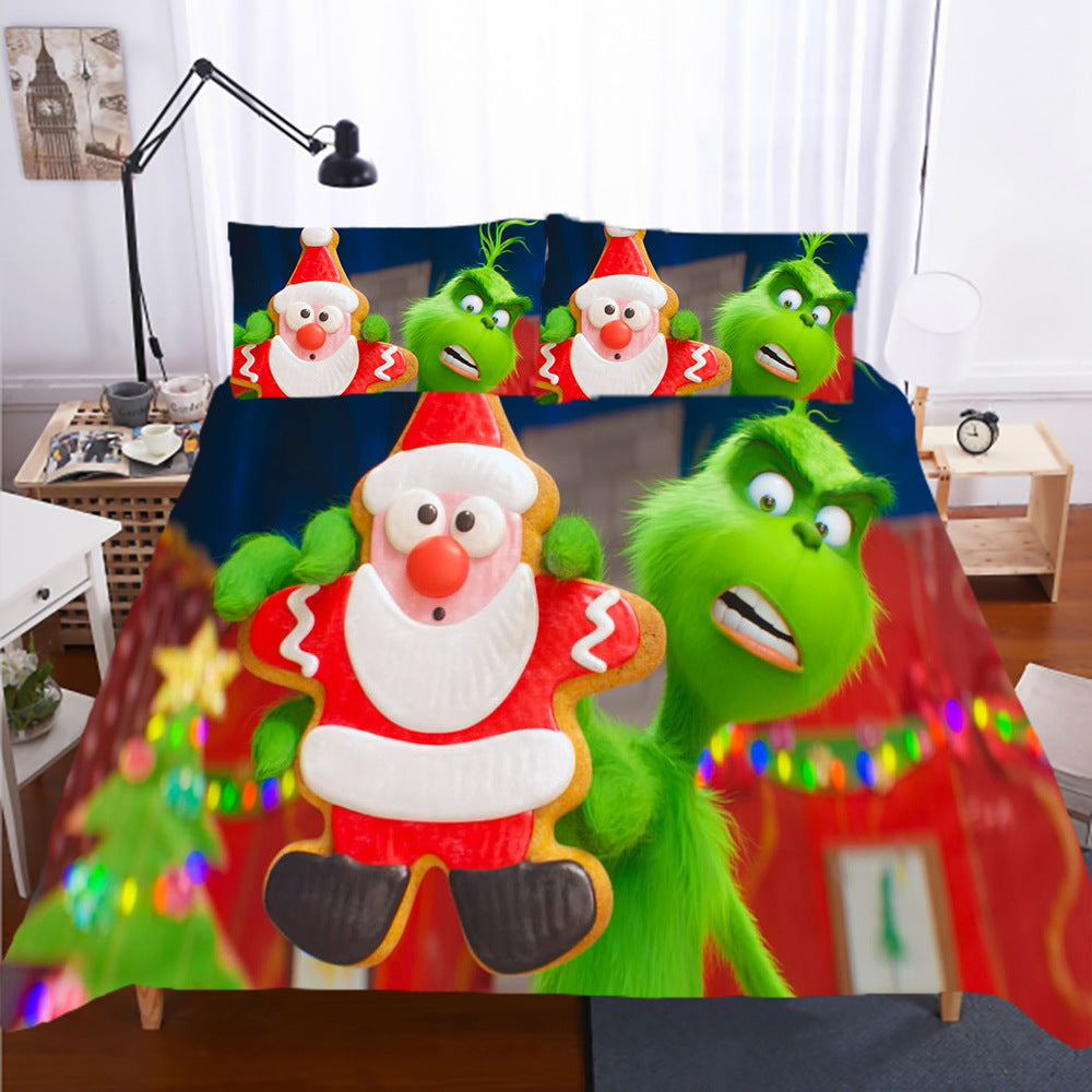 How the Grinch Stole Christmas #4 Duvet Cover Quilt Cover Pillowcase Bedding Set Bed Linen Home Decor