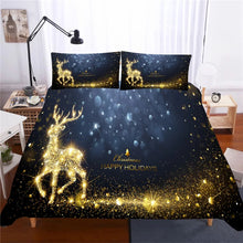 Load image into Gallery viewer, 2019 Christmas Santa Claus #3 Duvet Cover Quilt Cover Pillowcase Bedding Set Bed Linen Home Decor