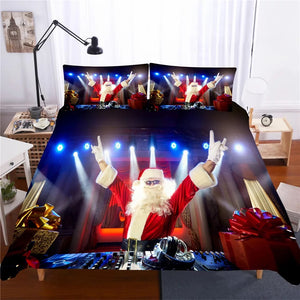 Christmas Santa Claus #8 Duvet Cover Quilt Cover Pillowcase Bedding Set Bed Linen Home Decor