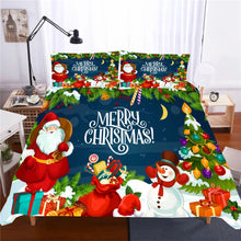 Load image into Gallery viewer, 2019 Christmas Santa Claus #9 Duvet Cover Quilt Cover Pillowcase Bedding Set Bed Linen Home Decor