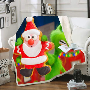 How the Grinch Stole Christmas #1 Blanket Super Soft Cozy Sherpa Fleece Throw Blanket for Men Boys