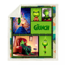 Load image into Gallery viewer, How the Grinch Stole Christmas #6 Blanket Super Soft Cozy Sherpa Fleece Throw Blanket for Men Boys