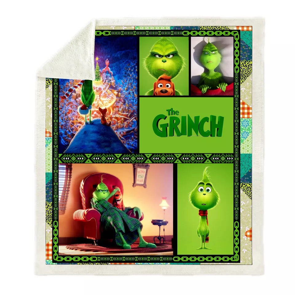How the Grinch Stole Christmas #6 Blanket Super Soft Cozy Sherpa Fleece Throw Blanket for Men Boys