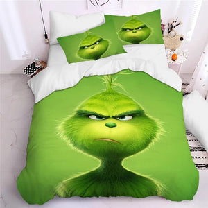 How the Grinch Stole Christmas #8 Duvet Cover Quilt Cover Pillowcase Bedding Set Bed Linen Home Decor