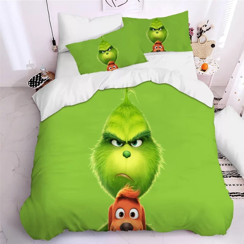 How the Grinch Stole Christmas #10 Duvet Cover Quilt Cover Pillowcase Bedding Set Bed Linen Home Decor