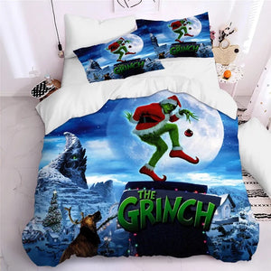 How the Grinch Stole Christmas #12 Duvet Cover Quilt Cover Pillowcase Bedding Set Bed Linen Home Decor