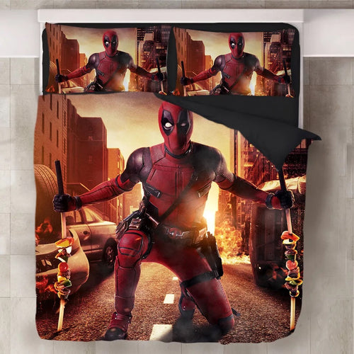 Deadpool X-Men #10 Duvet Cover Quilt Cover Pillowcase Bedding Set Bed Linen Home Decor