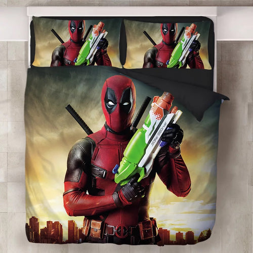 Deadpool X-Men #11 Duvet Cover Quilt Cover Pillowcase Bedding Set Bed Linen Home Decor