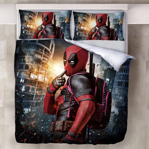 Deadpool X-Men #12 Duvet Cover Quilt Cover Pillowcase Bedding Set Bed Linen Home Decor
