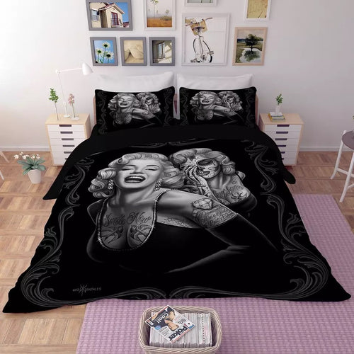 Marilyn Monroe #1 Duvet Cover Quilt Cover Pillowcase Bedding Set Bed Linen Home Decor