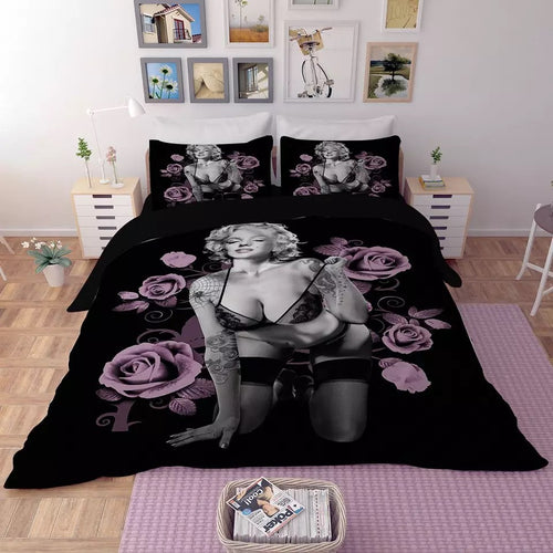 Marilyn Monroe #3 Duvet Cover Quilt Cover Pillowcase Bedding Set Bed Linen Home Decor