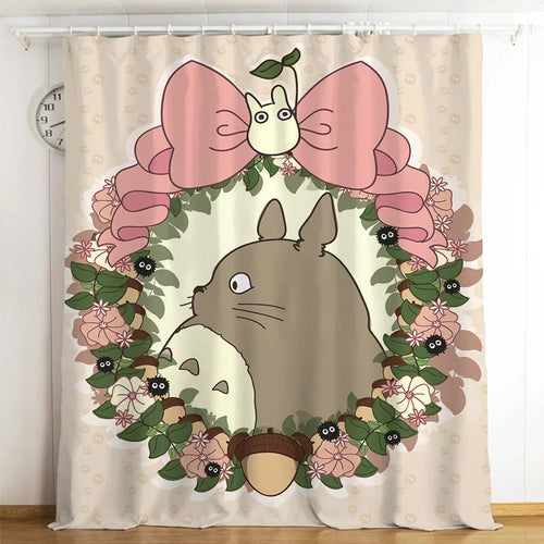 Tonari no Totoro #4 Blackout Curtains For Window Treatment Set For Living Room Bedroom