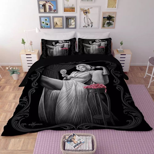Marilyn Monroe #5 Duvet Cover Quilt Cover Pillowcase Bedding Set Bed Linen Home Decor