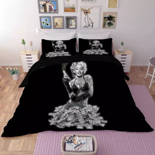 Marilyn Monroe #6 Duvet Cover Quilt Cover Pillowcase Bedding Set Bed Linen Home Decor