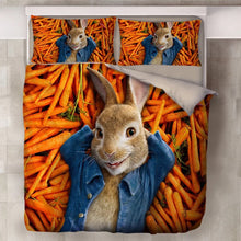 Load image into Gallery viewer, Peter Rabbit #1 Duvet Cover Quilt Cover Pillowcase Bedding Set Bed Linen Home Decor