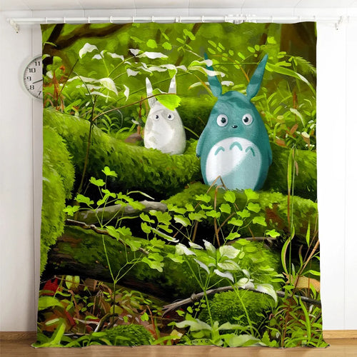 Tonari no Totoro #11 Blackout Curtains For Window Treatment Set For Living Room Bedroom