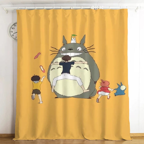 Tonari no Totoro #13 Blackout Curtains For Window Treatment Set For Living Room Bedroom