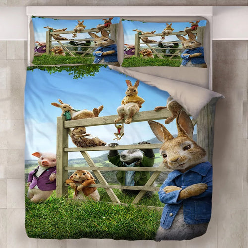 Peter Rabbit #8 Duvet Cover Quilt Cover Pillowcase Bedding Set Bed Linen Home Decor