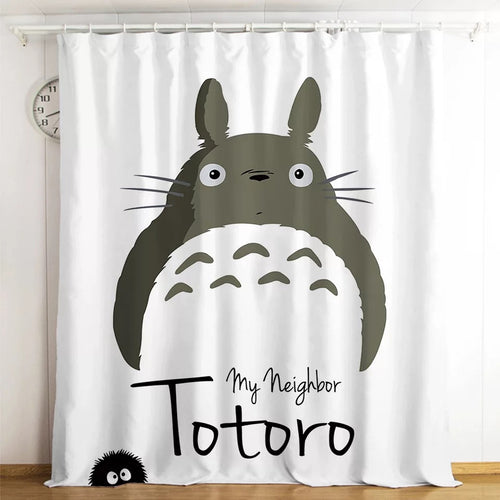 Tonari no Totoro #18 Blackout Curtains For Window Treatment Set For Living Room Bedroom