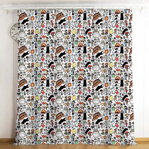 Tonari no Totoro #21 Blackout Curtains For Window Treatment Set For Living Room Bedroom