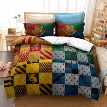 Load image into Gallery viewer, Harry Potter Hogwarts Four Houses #12 Duvet Cover Quilt Cover Pillowcase Bedding Set Bed Linen Home Decor