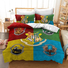 Load image into Gallery viewer, Harry Potter Hogwarts Four Houses #13 Duvet Cover Quilt Cover Pillowcase Bedding Set Bed Linen Home Decor