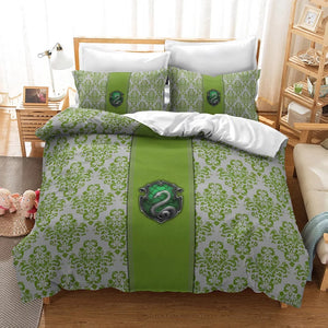 Harry Potter Slytherin #26 Duvet Cover Quilt Cover Pillowcase Bedding Set Bed Linen Home Decor