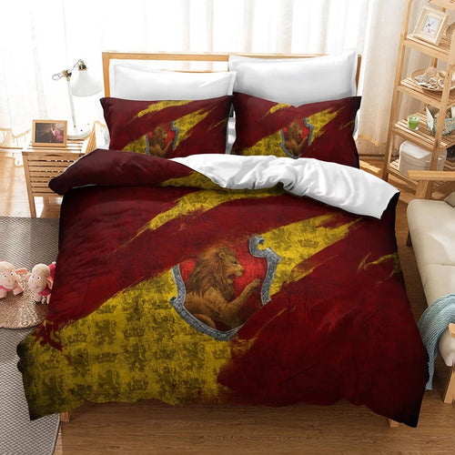 Harry Potter Gryffindor #21 Duvet Cover Quilt Cover Pillowcase Bedding Set Bed Linen Home Decor