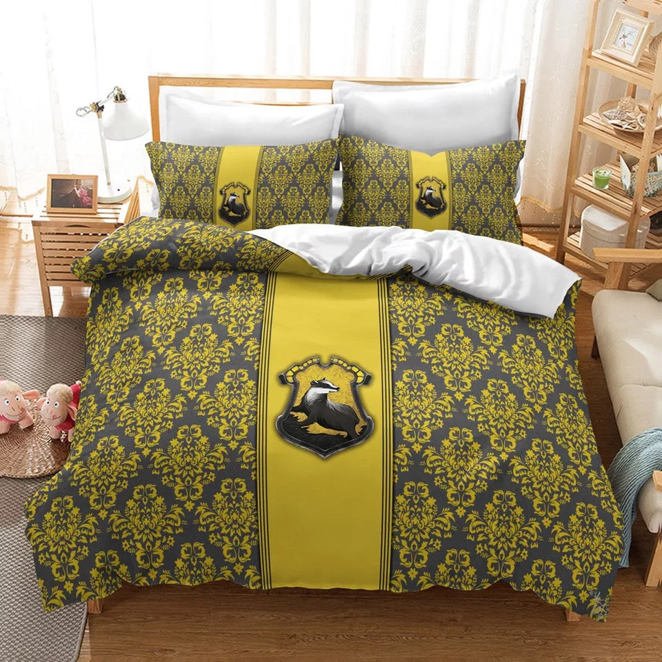 Harry Potter Hufflepuff #24 Duvet Cover Quilt Cover Pillowcase Bedding Set Bed Linen Home Decor