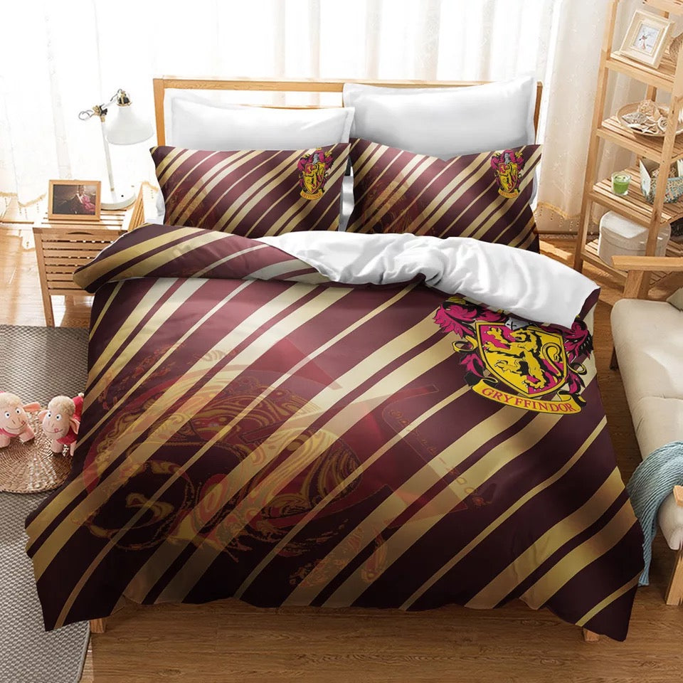 Harry Potter Gryffindor #22 Duvet Cover Quilt Cover Pillowcase Bedding Set Bed Linen Home Decor