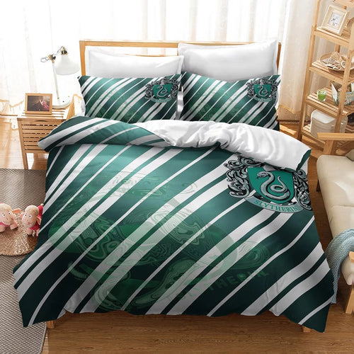 Harry Potter Slytherin #28 Duvet Cover Quilt Cover Pillowcase Bedding Set Bed Linen Home Decor