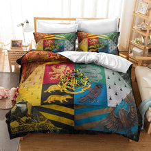 Load image into Gallery viewer, Harry Potter Gryffindor Slytherin Ravenclaw And Hufflepuff  #30 Duvet Cover Quilt Cover Pillowcase Bedding Set Bed Linen Home Decor