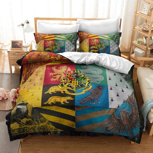 Harry Potter Gryffindor Slytherin Ravenclaw And Hufflepuff  #30 Duvet Cover Quilt Cover Pillowcase Bedding Set Bed Linen Home Decor