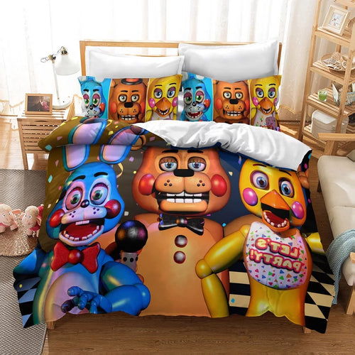 Five Nights at Freddy's #2 Duvet Cover Quilt Cover Pillowcase Bedding Set Bed Linen Home Decor
