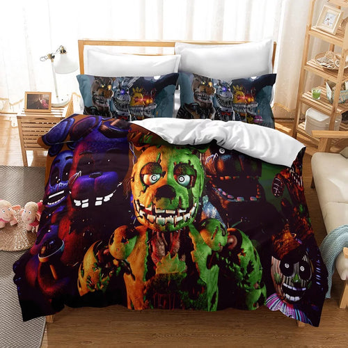 Five Nights at Freddy's #5 Duvet Cover Quilt Cover Pillowcase Bedding Set Bed Linen Home Decor
