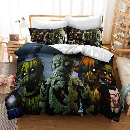 Five Nights at Freddy's #6 Duvet Cover Quilt Cover Pillowcase Bedding Set Bed Linen Home Decor